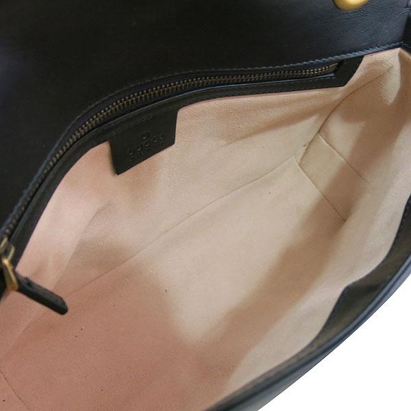 Gucci(구찌) 443497 블랙 레더 GG마몬트 스몰 마틀라쎄 퀼팅 금장 체인 숄더백 [대구동성로점] 이미지7 - 고이비토 중고명품