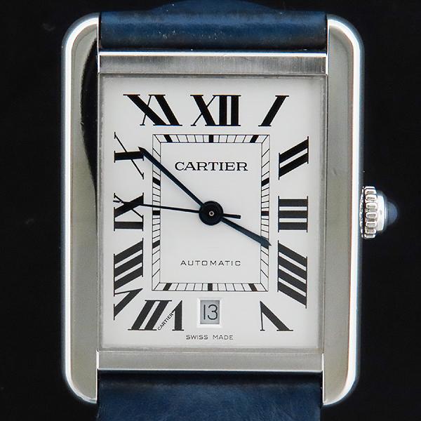 Cartier(까르띠에) W5200027 TANK SOLO(탱크 솔로) XL사이즈 오토매틱 DD클립 네이비 가죽 밴드 남성용 시계 [인천점] 이미지2 - 고이비토 중고명품