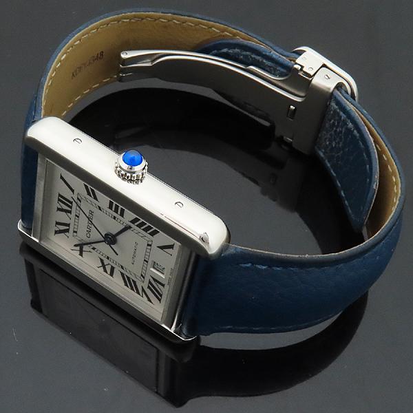 Cartier(까르띠에) W5200027 TANK SOLO(탱크 솔로) XL사이즈 오토매틱 DD클립 네이비 가죽 밴드 남성용 시계 [인천점] 이미지3 - 고이비토 중고명품