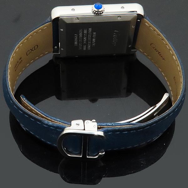 Cartier(까르띠에) W5200027 TANK SOLO(탱크 솔로) XL사이즈 오토매틱 DD클립 네이비 가죽 밴드 남성용 시계 [인천점] 이미지4 - 고이비토 중고명품