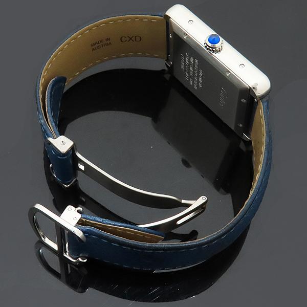 Cartier(까르띠에) W5200027 TANK SOLO(탱크 솔로) XL사이즈 오토매틱 DD클립 네이비 가죽 밴드 남성용 시계 [인천점] 이미지5 - 고이비토 중고명품