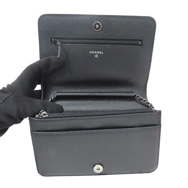 Chanel(샤넬) A80287 블랙 캐비어스킨 보이 샤넬 WOC (월릿 온 더 체인) 클러치 겸 크로스백 [부산서면롯데점] 이미지5 - 고이비토 중고명품