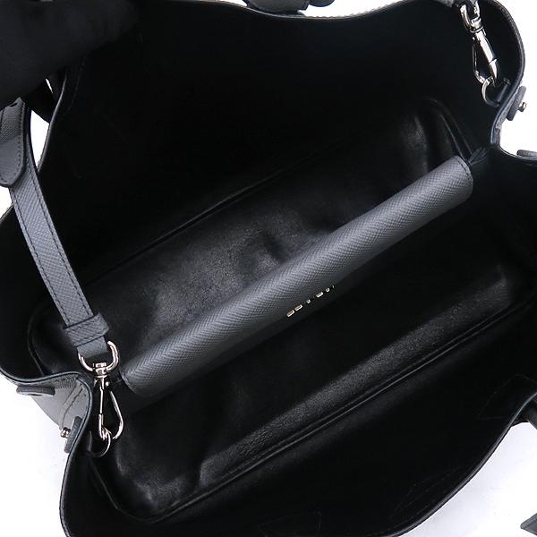 Prada(프라다) 그레이 사피아노 레더 금장 삼각 로고 장식 두블레 토트백 + 숄더스트랩 2WAY [강남본점] 이미지5 - 고이비토 중고명품
