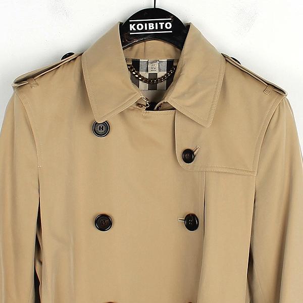 Burberry(버버리) 3900461 KENSINGTON(켄싱턴) 베이지 컬러 여성용 트렌치 코트(벨트set) [잠실점] 이미지2 - 고이비토 중고명품