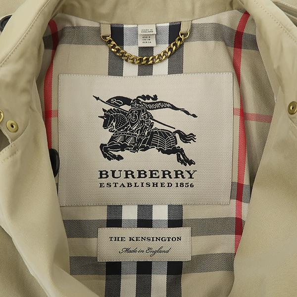 Burberry(버버리) 3900461 KENSINGTON(켄싱턴) 베이지 컬러 여성용 트렌치 코트(벨트set) [잠실점] 이미지4 - 고이비토 중고명품