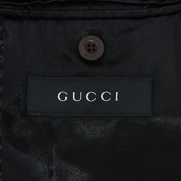 Gucci(구찌) 322620 울 100% 그레이 컬러 하운드투스 체크 남성용 코트 [강남본점] 이미지5 - 고이비토 중고명품