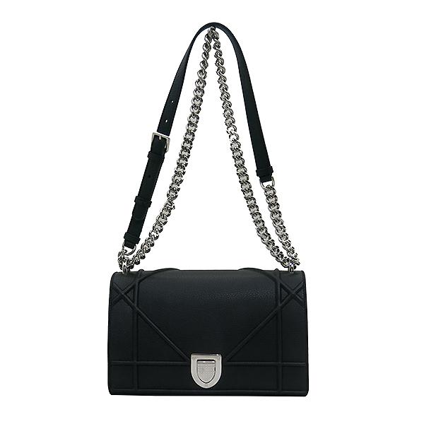 Dior(크리스챤디올) M0422OVKK 디올라마 블랙 레더 플랩 체인 숄더백 [부산센텀본점] 이미지2 - 고이비토 중고명품