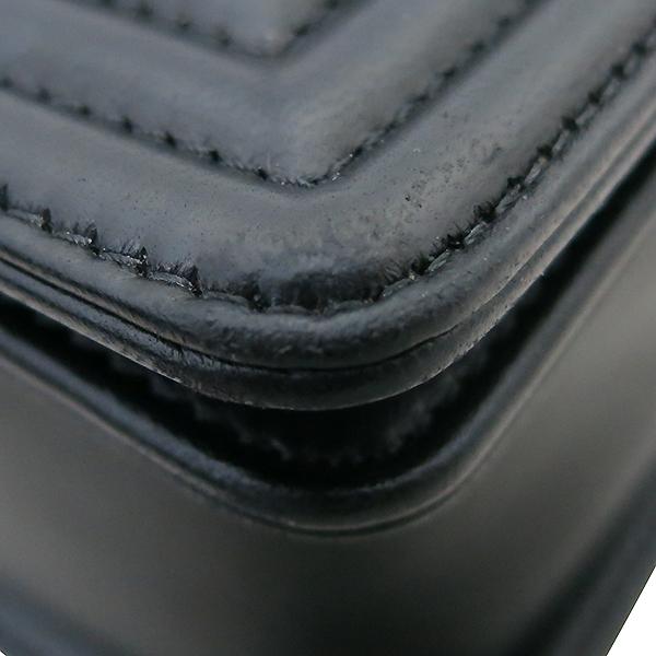 Chanel(샤넬) A92193 Y04638 94305 램스킨 블랙 컬러 BOY CHANEL 보이샤넬 L사이즈 라지 루테늄 메탈 로고 체인 플랩 숄더백 [부산센텀본점] 이미지4 - 고이비토 중고명품