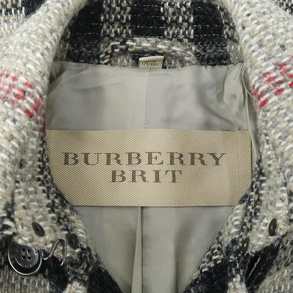 Burberry(버버리) 3777272 BRIT(브릿) 라인 100% 울 체크 코트 +벨트 SET [강남본점] 이미지4 - 고이비토 중고명품