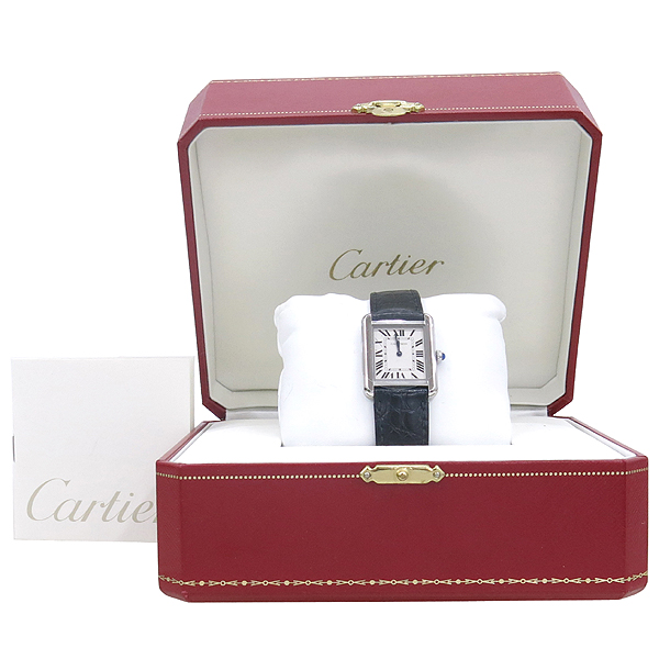 Cartier(까르띠에) W5200005 솔로탱크 S 사이즈 DD클립 가죽 밴드 여성용 시계 [강남본점]