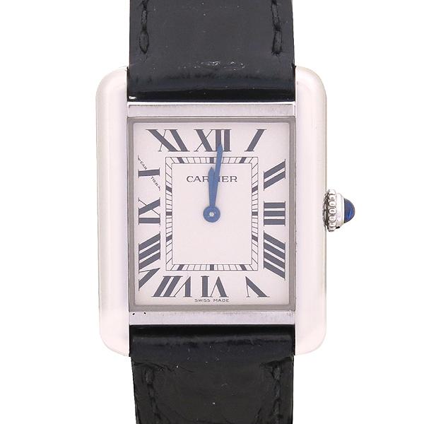 Cartier(까르띠에) W5200005 솔로탱크 S 사이즈 DD클립 가죽 밴드 여성용 시계 [강남본점] 이미지2 - 고이비토 중고명품