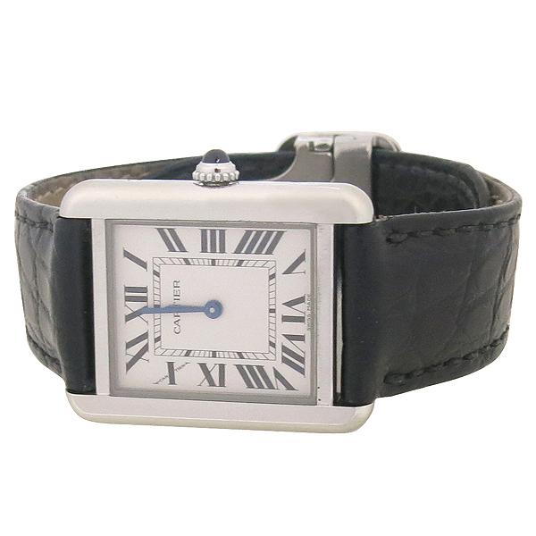 Cartier(까르띠에) W5200005 솔로탱크 S 사이즈 DD클립 가죽 밴드 여성용 시계 [강남본점] 이미지3 - 고이비토 중고명품