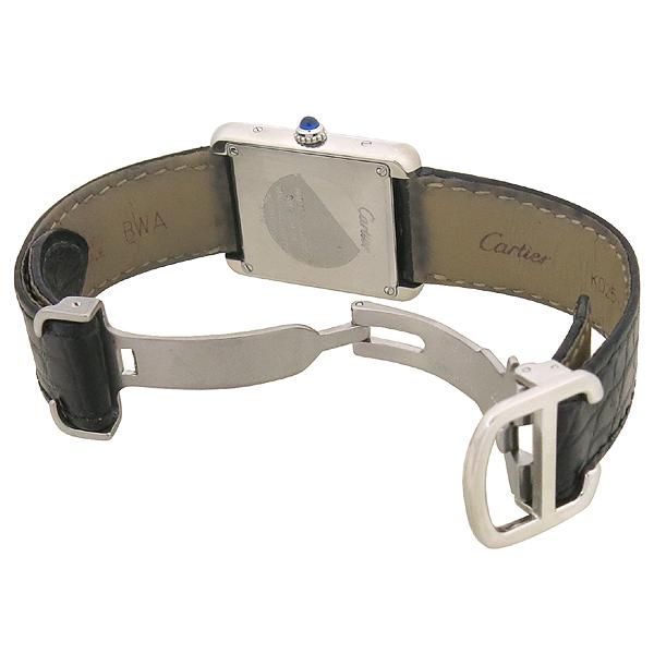 Cartier(까르띠에) W5200005 솔로탱크 S 사이즈 DD클립 가죽 밴드 여성용 시계 [강남본점] 이미지4 - 고이비토 중고명품