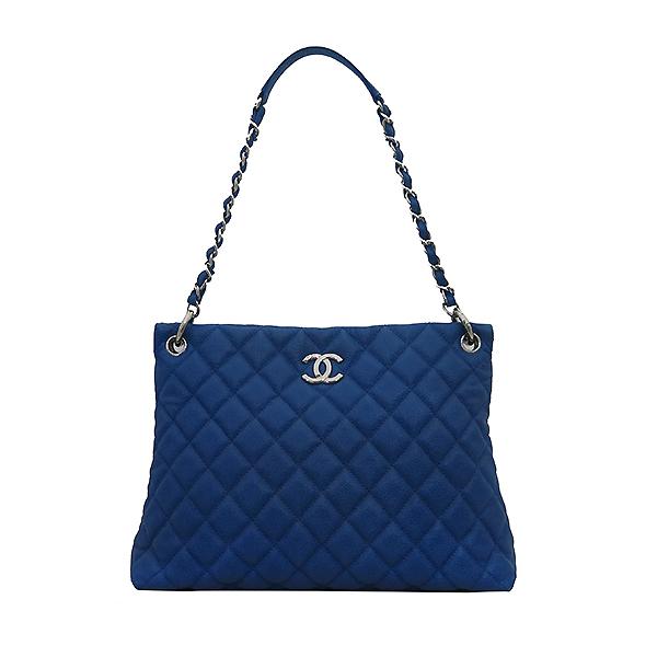 Chanel(샤넬) 캐비어 스킨 블루 호보 은장로고 체인 숄더백 [부산센텀본점] 이미지2 - 고이비토 중고명품