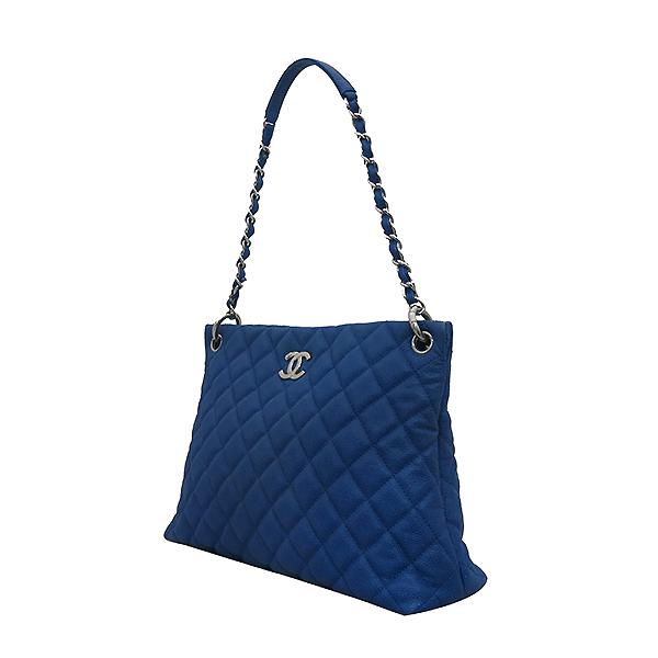 Chanel(샤넬) 캐비어 스킨 블루 호보 은장로고 체인 숄더백 [부산센텀본점] 이미지3 - 고이비토 중고명품