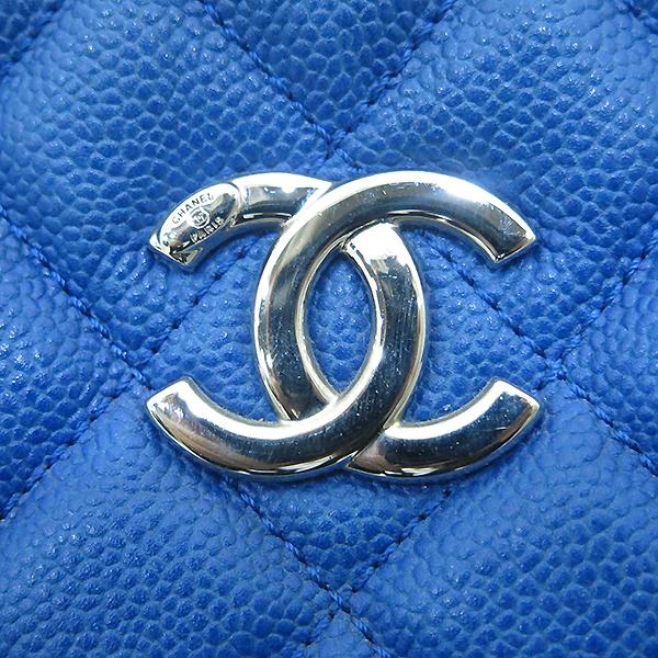 Chanel(샤넬) 캐비어 스킨 블루 호보 은장로고 체인 숄더백 [부산센텀본점] 이미지5 - 고이비토 중고명품