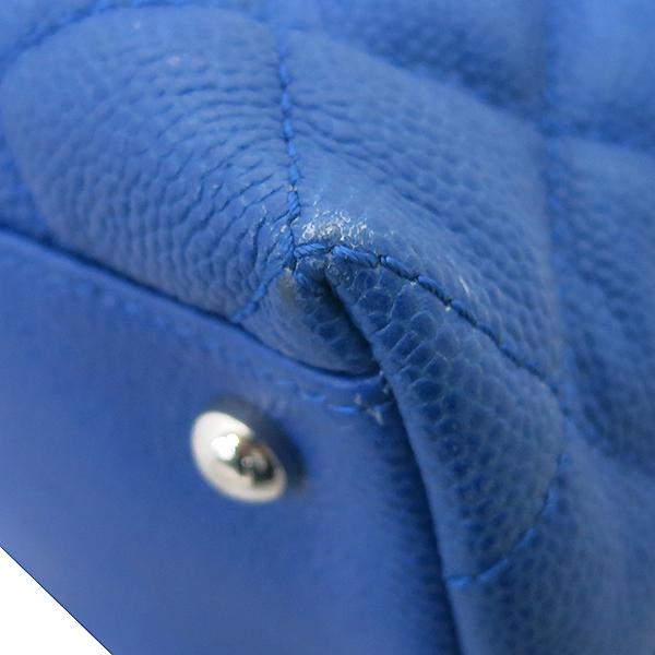 Chanel(샤넬) 캐비어 스킨 블루 호보 은장로고 체인 숄더백 [부산센텀본점] 이미지6 - 고이비토 중고명품