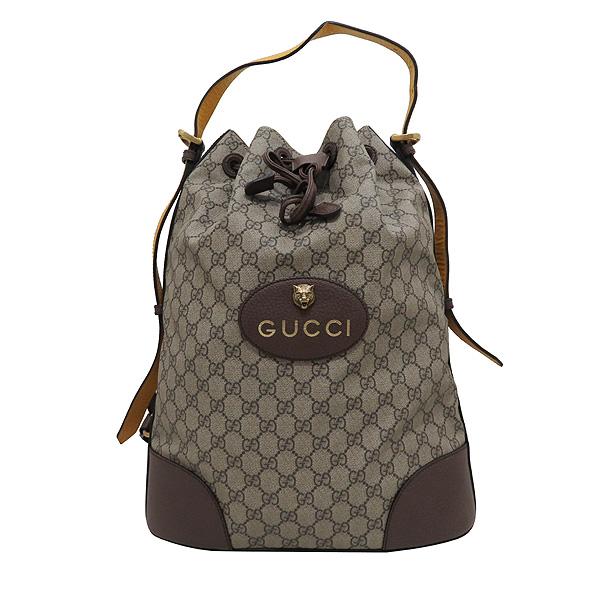 Gucci(구찌) 473868 GG로고 수프림 PVC 레더 트리밍 버킷 숄더 백팩 [인천점] 이미지2 - 고이비토 중고명품