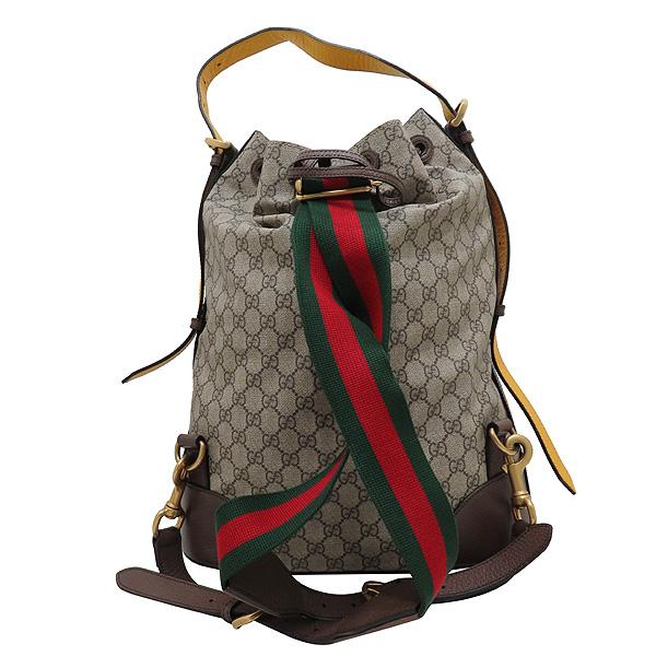 Gucci(구찌) 473868 GG로고 수프림 PVC 레더 트리밍 버킷 숄더 백팩 [인천점] 이미지5 - 고이비토 중고명품