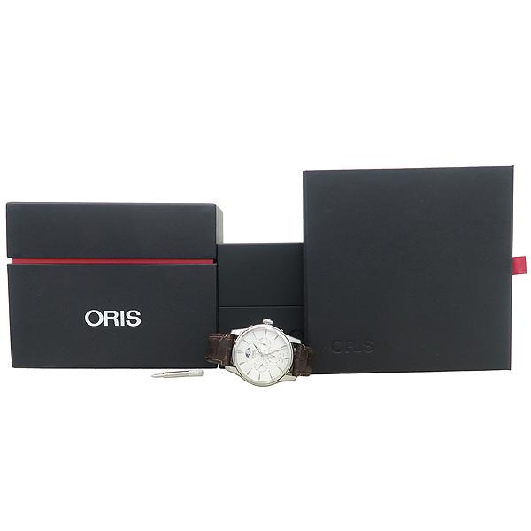ORIS(오리스) 781 7703 40 아뜰리에 문페이즈 오토매틱 시스루백 가죽밴드 남성용 시계 [잠실점]