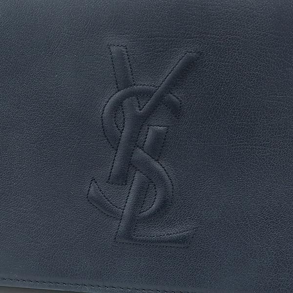 YSL(입생로랑) 361120 다크네이비 레더 로고 스티치 클러치 [잠실점] 이미지4 - 고이비토 중고명품
