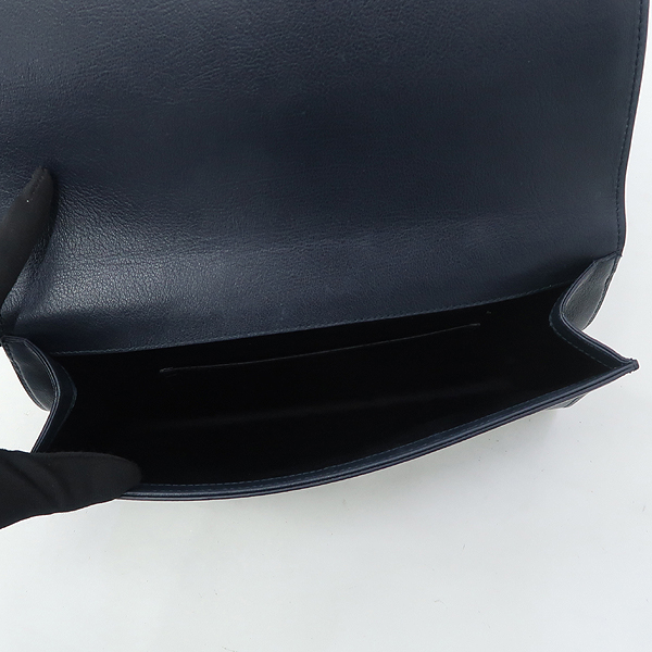 YSL(입생로랑) 361120 다크네이비 레더 로고 스티치 클러치 [잠실점] 이미지5 - 고이비토 중고명품