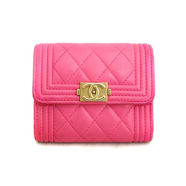Chanel(샤넬) A84068Y07659 핑크 컬러 램스킨 보이 샤넬 S 사이즈 반지갑 [동대문점] 이미지2 - 고이비토 중고명품