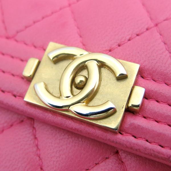 Chanel(샤넬) A84068Y07659 핑크 컬러 램스킨 보이 샤넬 S 사이즈 반지갑 [동대문점] 이미지5 - 고이비토 중고명품