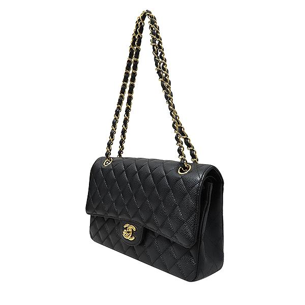 Chanel(샤넬) A01112Y01864 캐비어스킨 클래식 M 사이즈 금장 체인 숄더백 [부산서면롯데점] 이미지3 - 고이비토 중고명품