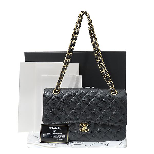 Chanel(샤넬) A01112Y01864 캐비어스킨 클래식 M 사이즈 금장 체인 숄더백 [부산서면롯데점]