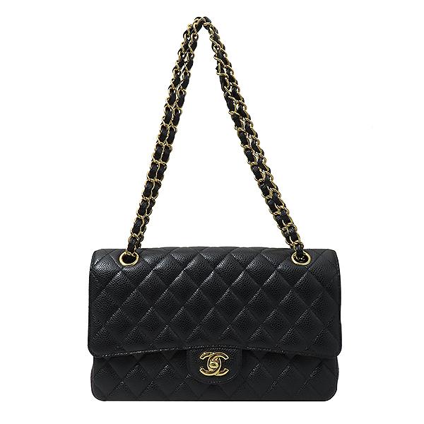 Chanel(샤넬) A01112Y01864 캐비어스킨 클래식 M 사이즈 금장 체인 숄더백 [부산서면롯데점] 이미지2 - 고이비토 중고명품