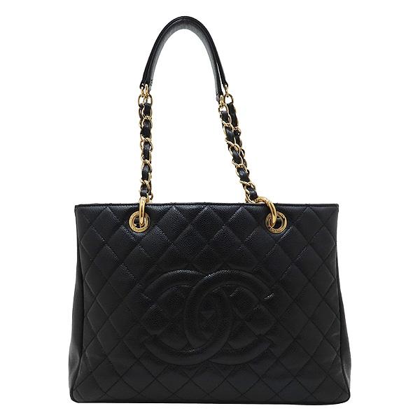 Chanel(샤넬) A50995 Y01864 블랙 캐비어 스킨 그랜드샤핑 금장 장식 로고 체인 숄더백 [인천점] 이미지2 - 고이비토 중고명품