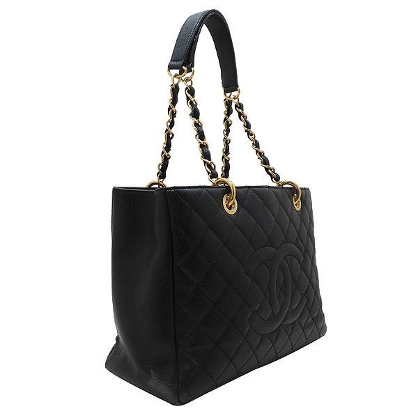 Chanel(샤넬) A50995 Y01864 블랙 캐비어 스킨 그랜드샤핑 금장 장식 로고 체인 숄더백 [인천점] 이미지3 - 고이비토 중고명품