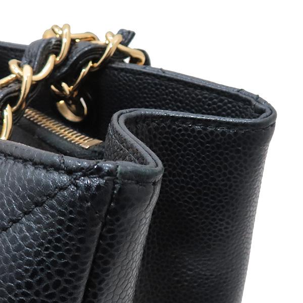 Chanel(샤넬) A50995 Y01864 블랙 캐비어 스킨 그랜드샤핑 금장 장식 로고 체인 숄더백 [인천점] 이미지4 - 고이비토 중고명품