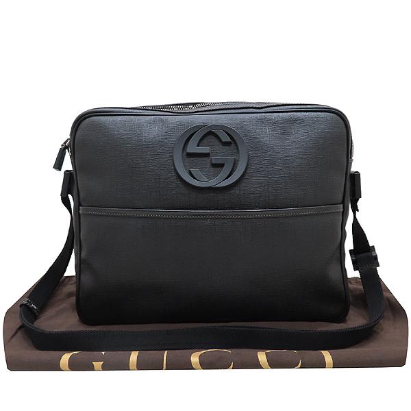 Gucci(구찌) 201852 GG로고 PVC 블랙 트리밍 인터로킹 러버로고 크로스백 [인천점]