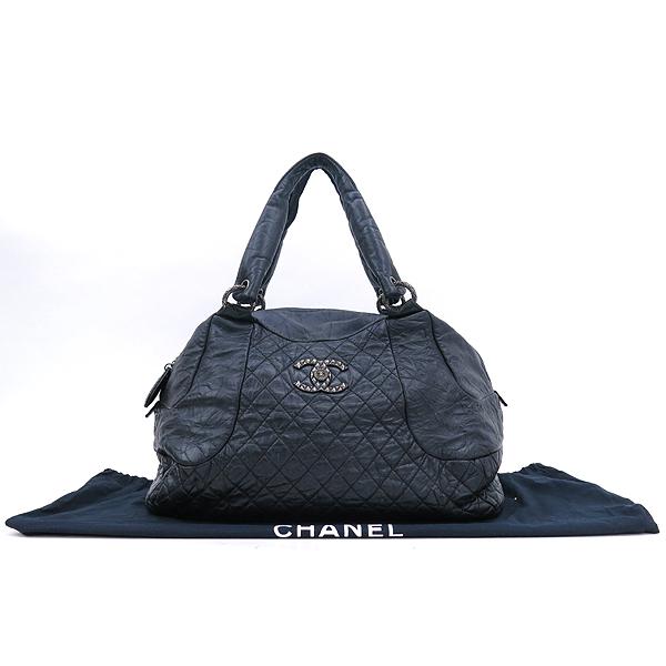 Chanel(샤넬) 블랙 컬러 빈티지 레더 크루즈 라인 빅 토트백 [강남본점]