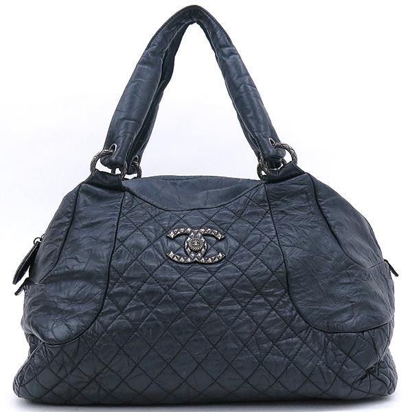 Chanel(샤넬) 블랙 컬러 빈티지 레더 크루즈 라인 빅 토트백 [강남본점] 이미지2 - 고이비토 중고명품