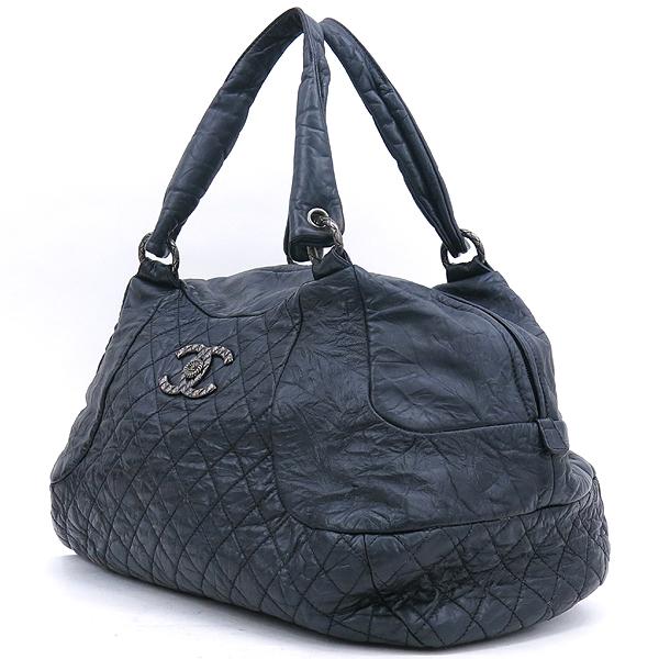 Chanel(샤넬) 블랙 컬러 빈티지 레더 크루즈 라인 빅 토트백 [강남본점] 이미지3 - 고이비토 중고명품
