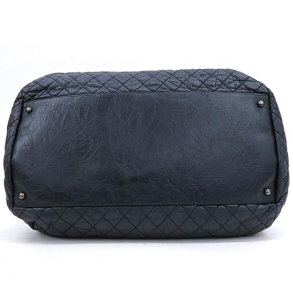 Chanel(샤넬) 블랙 컬러 빈티지 레더 크루즈 라인 빅 토트백 [강남본점] 이미지4 - 고이비토 중고명품