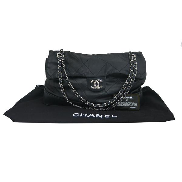 Chanel(샤넬) 2010시즌 COCO로고 자익 블랙 램스킨 스티치 플랩 체인 숄더백 [동대문점]