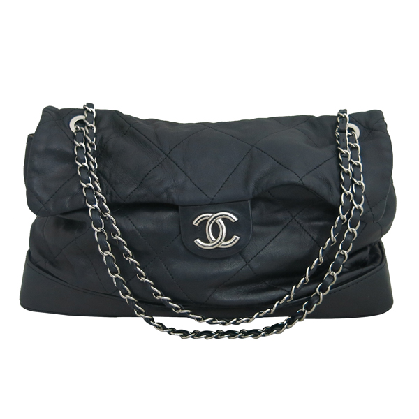 Chanel(샤넬) 2010시즌 COCO로고 자익 블랙 램스킨 스티치 플랩 체인 숄더백 [동대문점] 이미지2 - 고이비토 중고명품