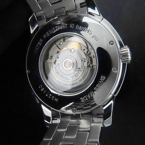 HAMILTON(해밀턴) H327150 JAZZMASTER(재즈마스터) 43MM 실버 다이얼 시스루백 데이트 스틸 오토매틱 남성용 시계 [인천점] 이미지6 - 고이비토 중고명품