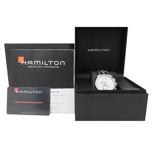 HAMILTON(해밀턴) H32616153 재즈마스터 데이트 크로노그래프 오토매틱 스틸 남성용 시계 [부산서면롯데점]