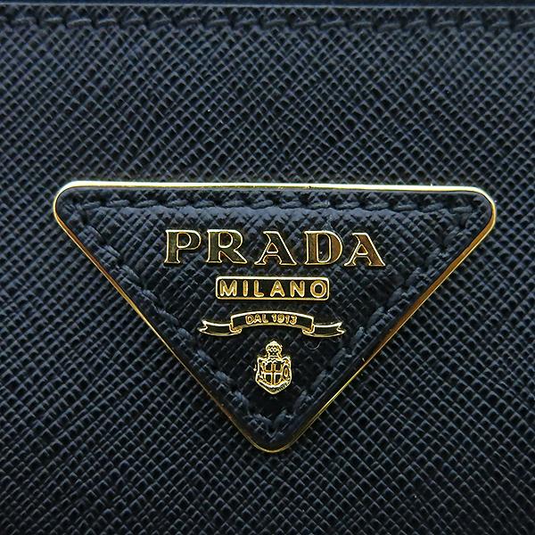 Prada(프라다) BN1801 SAFFIANO LUX 블랙 사피아노 럭스 금장로고 토트백 + 숄더스트랩 2WAY [부산센텀본점] 이미지5 - 고이비토 중고명품