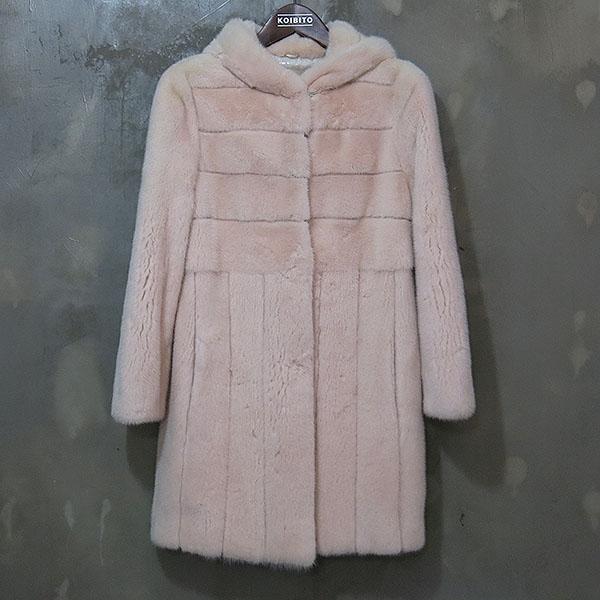JINDO(진도) ELFEE 엘페 GUARANTEED 베이비 핑크 100% 밍크메일 여성용 후드 하프코트 [대구동성로점]