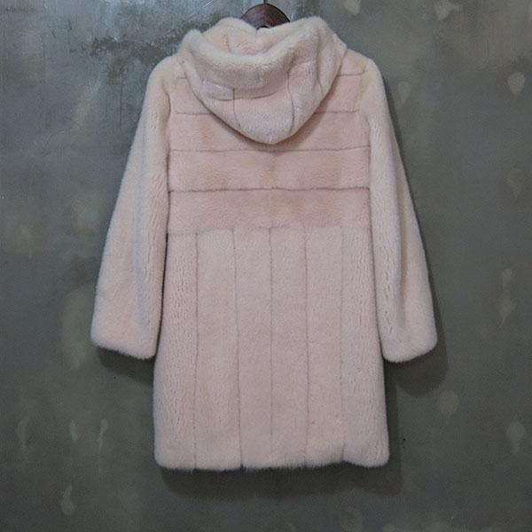 JINDO(진도) ELFEE 엘페 GUARANTEED 베이비 핑크 100% 밍크메일 여성용 후드 하프코트 [대구동성로점] 이미지3 - 고이비토 중고명품