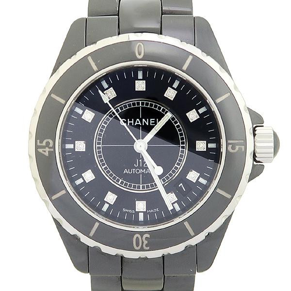 Chanel(샤넬) H1625 J12 33MM 블랙 세라믹 12포인트 다이아 남여공용 시계 [강남본점]