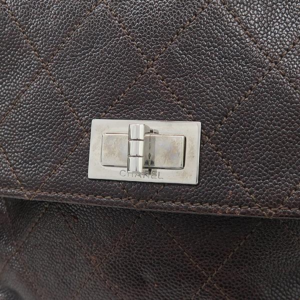 Chanel(샤넬) 브라운 컬러 캐비어스킨 투포켓 토트백 [강남본점] 이미지4 - 고이비토 중고명품