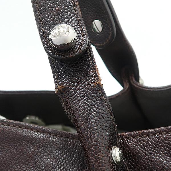 Chanel(샤넬) 브라운 컬러 캐비어스킨 투포켓 토트백 [강남본점] 이미지6 - 고이비토 중고명품