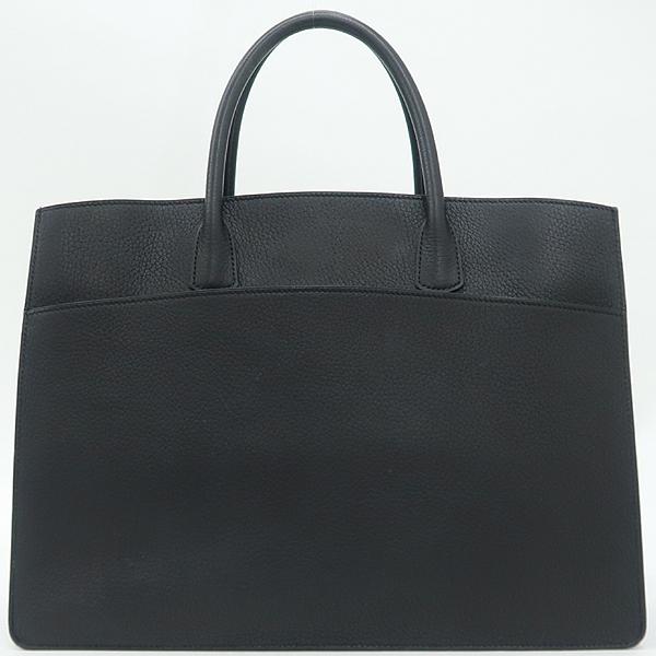 Hermes(에르메스) 블랙컬러 레더 화이트버스 GM 사이즈 토트백 [강남본점]